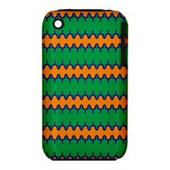 Orange green chains                                                                                           			Apple iPhone 3G/3GS Hardshell Case (PC+Silicone)