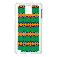 Orange green chains                                                                                           			Samsung Galaxy Note 3 N9005 Case (White)