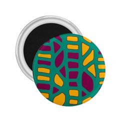 Green, purple and yellow decor 2.25  Magnets