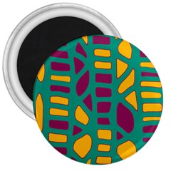 Green, purple and yellow decor 3  Magnets