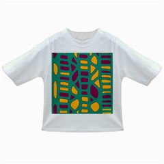 Green, purple and yellow decor Infant/Toddler T-Shirts