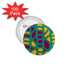 Green, purple and yellow decor 1.75  Buttons (100 pack)