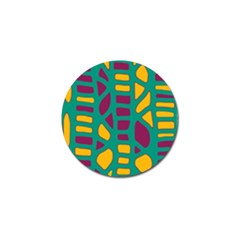 Green, purple and yellow decor Golf Ball Marker (10 pack)