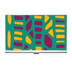 Green, purple and yellow decor Business Card Holders