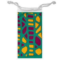 Green, purple and yellow decor Jewelry Bags