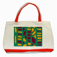 Green, purple and yellow decor Classic Tote Bag (Red)