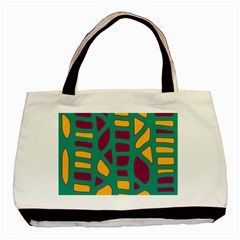 Green, purple and yellow decor Basic Tote Bag (Two Sides)