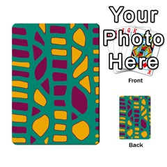Green, purple and yellow decor Multi-purpose Cards (Rectangle)