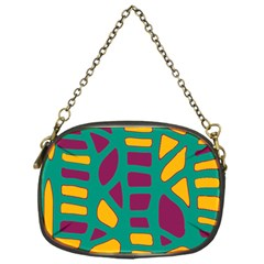 Green, purple and yellow decor Chain Purses (One Side)