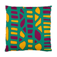 Green, purple and yellow decor Standard Cushion Case (One Side)