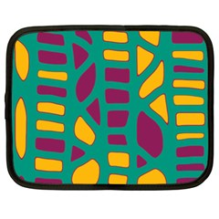 Green, purple and yellow decor Netbook Case (XL)