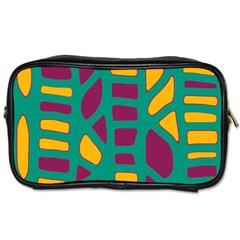 Green, purple and yellow decor Toiletries Bags