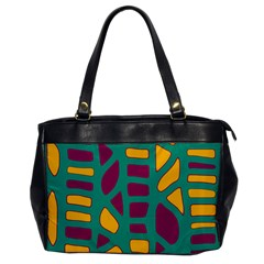 Green, purple and yellow decor Office Handbags