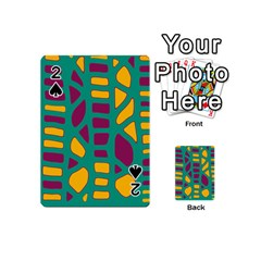 Green, purple and yellow decor Playing Cards 54 (Mini)