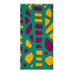 Green, purple and yellow decor Shower Curtain 36  x 72  (Stall)