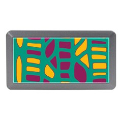 Green, purple and yellow decor Memory Card Reader (Mini)