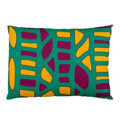 Green, purple and yellow decor Pillow Case (Two Sides)