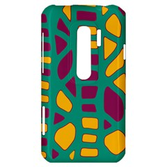 Green, purple and yellow decor HTC Evo 3D Hardshell Case
