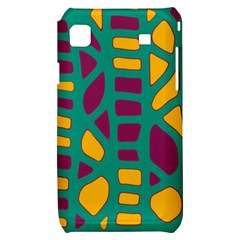 Green, purple and yellow decor Samsung Galaxy S i9000 Hardshell Case