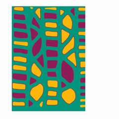 Green, purple and yellow decor Large Garden Flag (Two Sides)