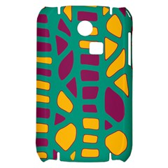 Green, purple and yellow decor Samsung S3350 Hardshell Case