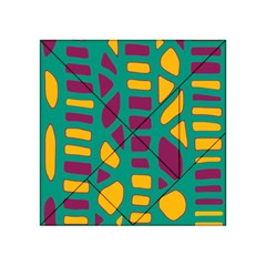 Green, purple and yellow decor Acrylic Tangram Puzzle (4  x 4 )