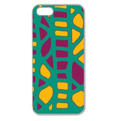 Green, purple and yellow decor Apple Seamless iPhone 5 Case (Clear)