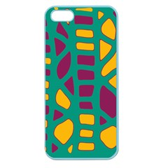Green, purple and yellow decor Apple Seamless iPhone 5 Case (Color)