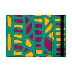 Green, purple and yellow decor Apple iPad Mini Flip Case