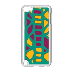 Green, purple and yellow decor Apple iPod Touch 5 Case (White)