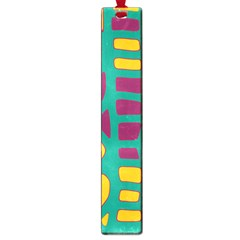 Green, purple and yellow decor Large Book Marks