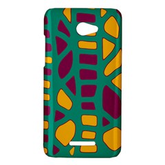 Green, purple and yellow decor HTC Butterfly X920E Hardshell Case