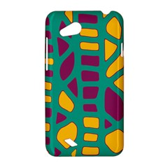Green, purple and yellow decor HTC Desire VC (T328D) Hardshell Case