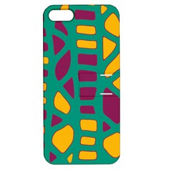 Green, purple and yellow decor Apple iPhone 5 Hardshell Case with Stand