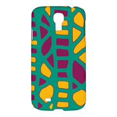 Green, purple and yellow decor Samsung Galaxy S4 I9500/I9505 Hardshell Case