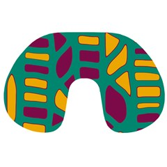 Green, purple and yellow decor Travel Neck Pillows