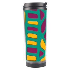 Green, purple and yellow decor Travel Tumbler