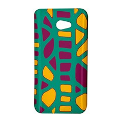 Green, purple and yellow decor HTC Butterfly S/HTC 9060 Hardshell Case