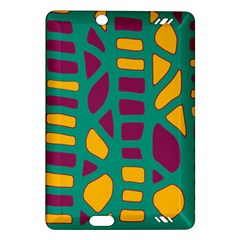 Green, purple and yellow decor Amazon Kindle Fire HD (2013) Hardshell Case
