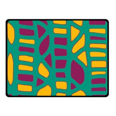 Green, purple and yellow decor Double Sided Fleece Blanket (Small)