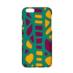 Green, purple and yellow decor Apple iPhone 6/6S Hardshell Case