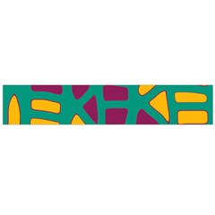 Green, purple and yellow decor Flano Scarf (Large)