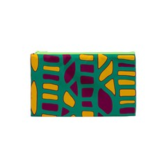 Green, purple and yellow decor Cosmetic Bag (XS)