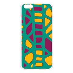 Green, purple and yellow decor Apple Seamless iPhone 6 Plus/6S Plus Case (Transparent)