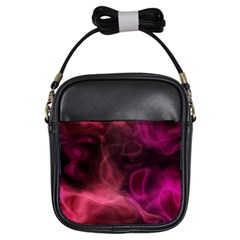 Pink red texture                                                                                              			Girls Sling Bag