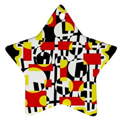 Red and yellow chaos Ornament (Star)