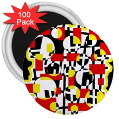 Red and yellow chaos 3  Magnets (100 pack)