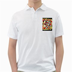 Red and yellow chaos Golf Shirts