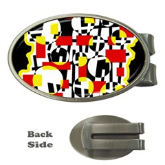 Red and yellow chaos Money Clips (Oval)