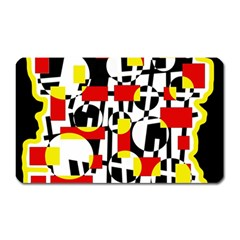 Red and yellow chaos Magnet (Rectangular)